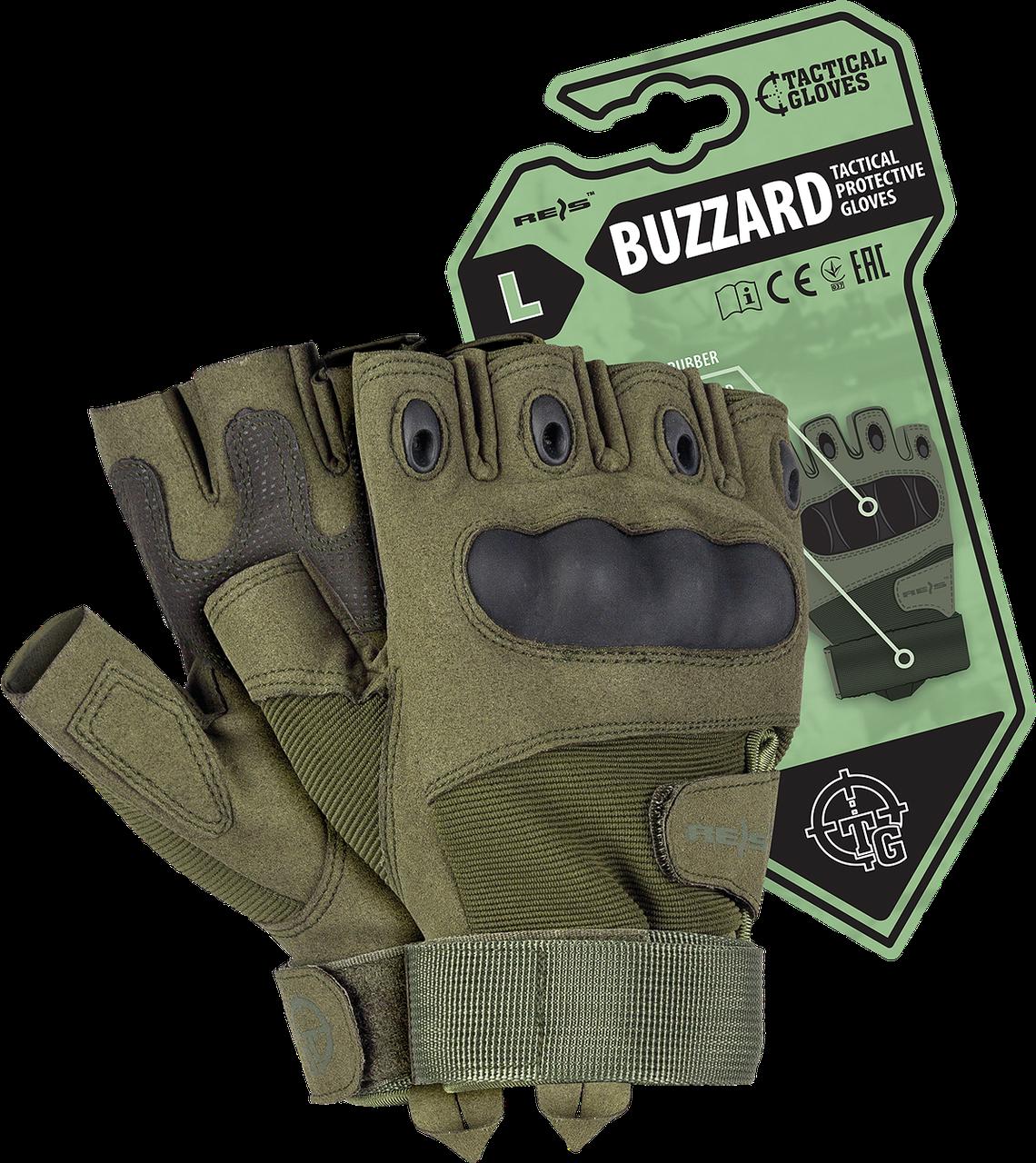Тактические перчатки RTC-BUZZARD Z зеленого цвета.