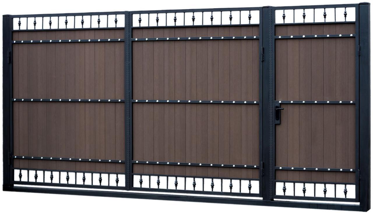 Металлические ворота въездные