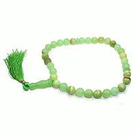 Четки зеленый оникс, 33 бусины