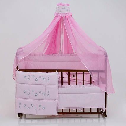 Постельный комплект 8 предметов Беби-Текс, Премиум, Розовый  (17617)