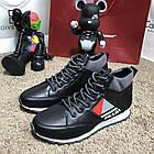 Кросівки чоловічі сникеры Prada Mechano Mid Sneakers Black, (репліка), фото 2