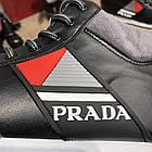Кросівки чоловічі сникеры Prada Mechano Mid Sneakers Black, (репліка), фото 4