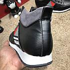 Кросівки чоловічі сникеры Prada Mechano Mid Sneakers Black, (репліка), фото 7