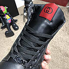 Черевики чоловічі демісезонні Gucci Signature Web High Top Black/Green/Red, (репліка), р 41,42, фото 5
