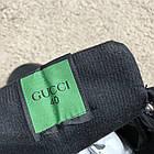 Черевики чоловічі демісезонні Gucci Signature Web High Top Black/Green/Red, (репліка), р 41,42, фото 7