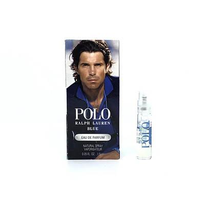 ПРОБНИК мужские духи RALPH LAUREN Polo Blue парфюмированнаявода 1,2ml, свежий древесный фужерный аромат