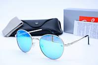 Солнцезащитные очки круглые Rb 663 голубые