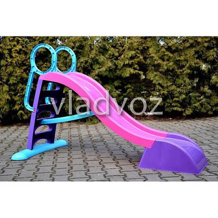Детская горкаигровая пластиковая дитяча гірка для дома площадки улицы спуск дачи Mochtoys ф. 180 см., фото 2