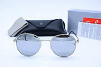 Солнцезащитные очки круглые Rb 663 зеркало
