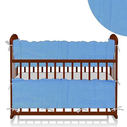 """Защита для кроватки """"Алекс"""", Голубая (МБ/40/002)"""