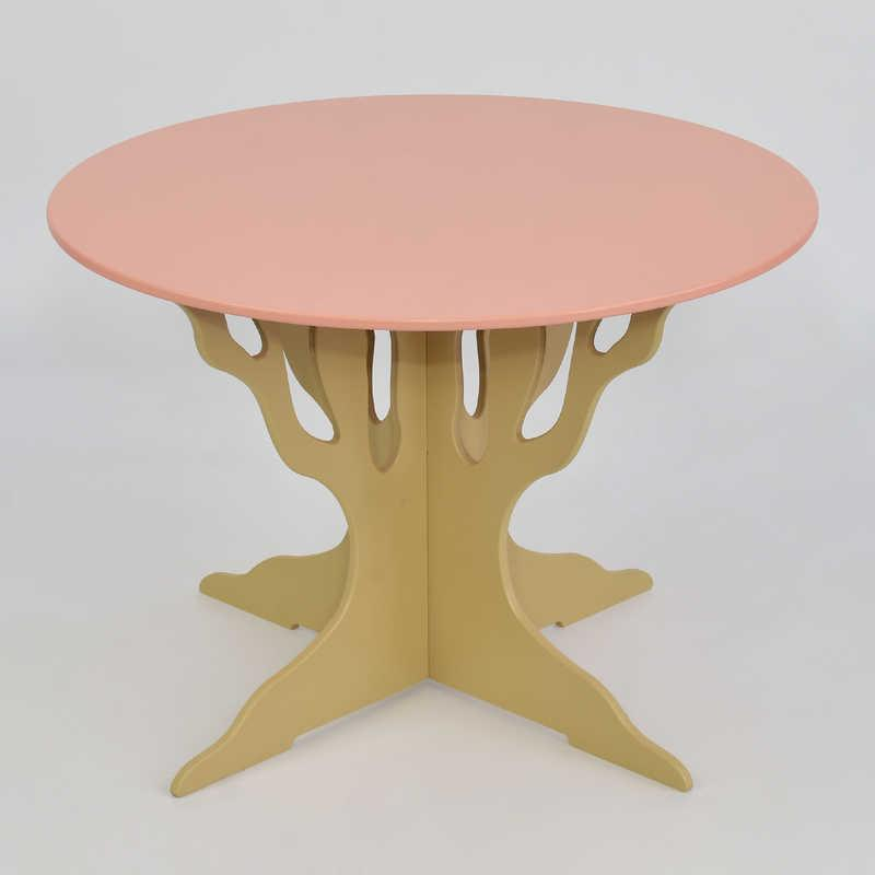 Стол круглый МАСЯ, Розовый (5130)