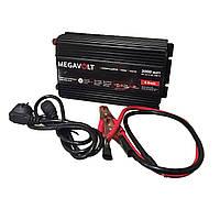 Преобразователь напряжения с зарядным 12v - 220v 3000W(бесперебойник) UPS MEGAVOLT