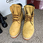 Черевики чоловічі шкіряні Тимбэрленд жовті Timberland 6-Inch Premium Waterproof Yellow Boot (репліка), фото 3