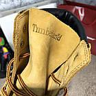 Черевики чоловічі шкіряні Тимбэрленд жовті Timberland 6-Inch Premium Waterproof Yellow Boot (репліка), фото 6