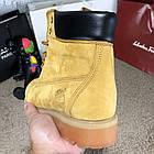 Черевики чоловічі шкіряні Тимбэрленд жовті Timberland 6-Inch Premium Waterproof Yellow Boot (репліка), фото 8