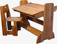 Парта-мольберт регульована 70см зі стільцем Домовичок, фото 1