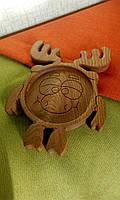 """Детская тарелка из дерева """"Лосяш"""". Детская посуда из дерева. Детские тарелки. Декоративные тарелки."""