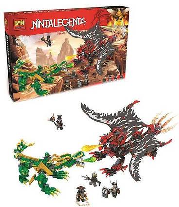 Конструктор Jemlou Ninja Legend  20015 (12) Битва драконов, 1005 деталей, в коробке