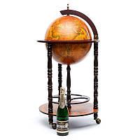 Глобус бар напольный BST 480004 46×46×90 см коричневая  Надежное убежище