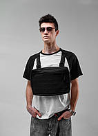 Нагрудная сумка Chest Rig/броник «Stockton» Bad Monkey, цвет черный
