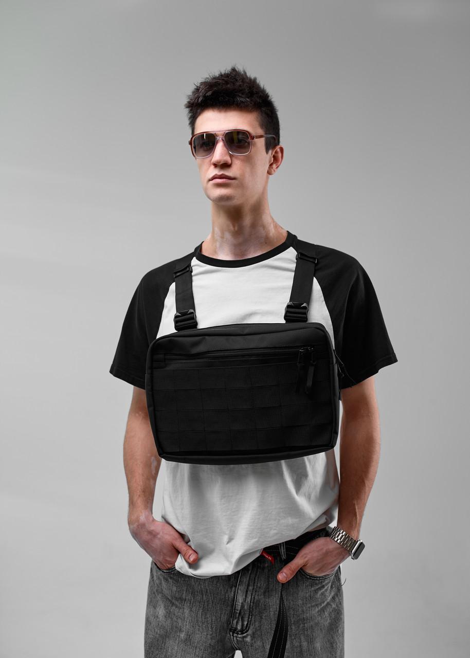 Нагрудная сумка Chest Rig/броник «Stockton» Bad Monkey, цвет черный, фото 1