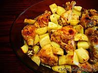 Тушеная курица с картошкой 500 г