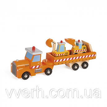 Машинка Janod Авотовоз и 2 бульдозера J08575