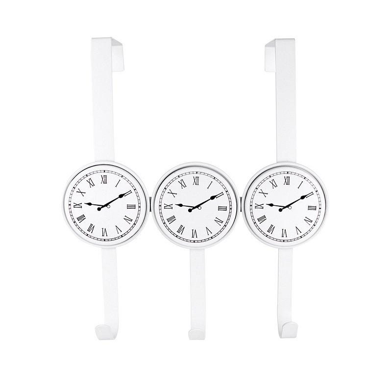 Вешалка настенная на 3 крючка Часы AWD02091483