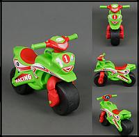 Мотобайк (мотоцикл) серия Спорт, салатовый, МУЗЫКАЛЬНЫЙ