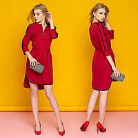 """Бордовое платье стильное весеннее размер S """"Лависта"""""""