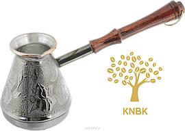 Турка (джезва) медная 300 мл. Ручка темное дерево