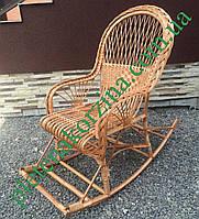 Плетеное Кресло-качалка из лозы Арт.12600