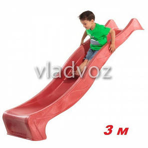 Детская горка игровая пластиковая дитяча гірка для дома площадки улицы спуск дачи красная 300 см. , фото 2