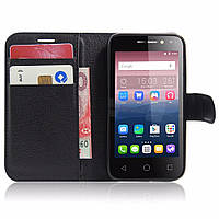 Чехол-книжка Litchie Wallet для Alcatel One Touch Pixi 4 4034D (4.0) Черный