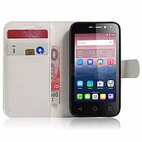 Чехол-книжка Litchie Wallet для Alcatel One Touch Pixi 4 4034D (4.0) Белый