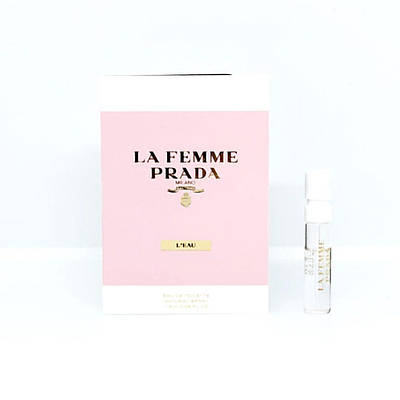ПРОБНИК элитных женских духов 1,5 мл PRADA La Femme L'eau ОРИГИНАЛ, шлейфовый цветочный осточный аромат