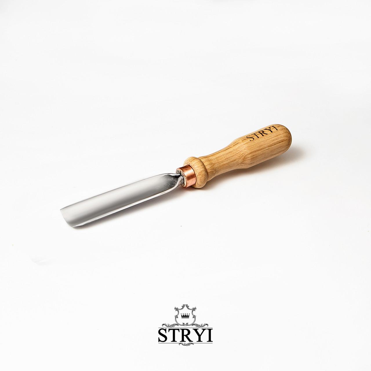 Стамеска полукруглая профессиональная STRYI 15мм от производителя, профиль №8