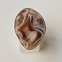 Серебряное кольцо с натуральным  агатом. Украина
