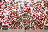 Кумушка 1453-2, павлопосадский платок шерстяной  с шелковой бахромой, фото 5