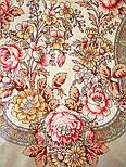 Кумушка 1453-2, павлопосадский платок шерстяной  с шелковой бахромой, фото 6