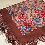 Кумушка 1453-16, павлопосадский платок шерстяной  с шелковой бахромой, фото 4