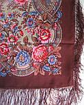 Кумушка 1453-16, павлопосадский платок шерстяной  с шелковой бахромой, фото 5