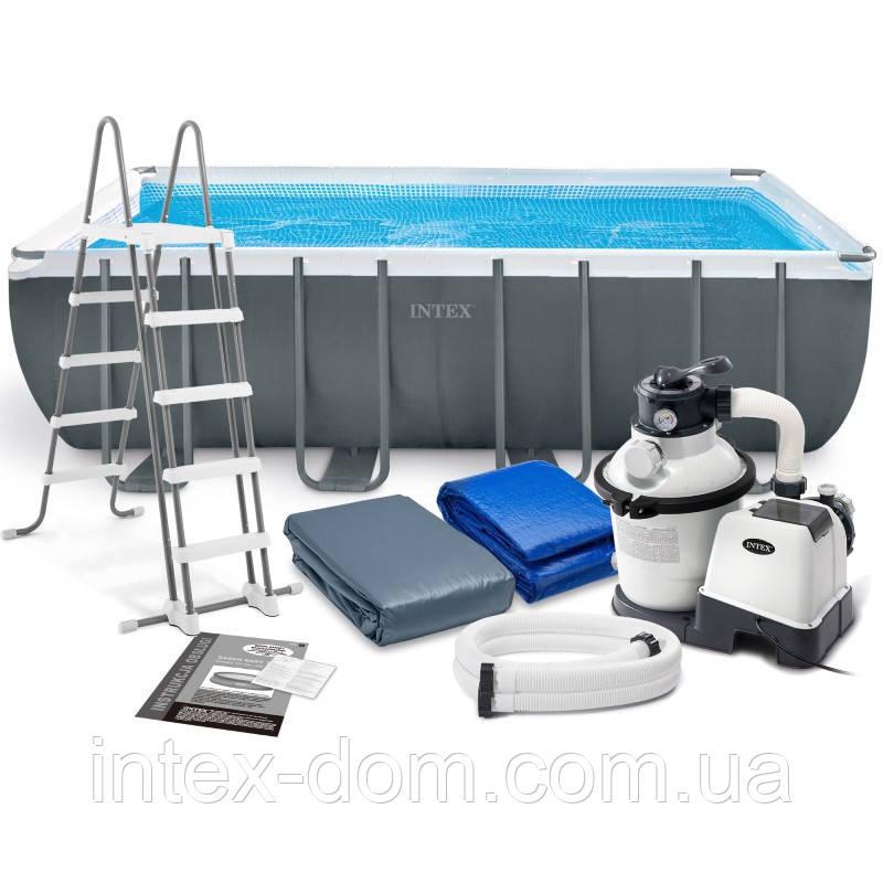 Каркасный бассейн Intex 26356, (549 х 274 х 132 см) (4 500 л/ч, лестница, тент, подстилка)