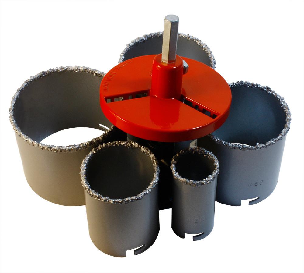 Набір вольфрамових коронок а.т.т. 5 шт (33, 53, 67, 73 і 83 мм)