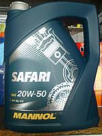 Минеральное моторное масло Mannol Safari 20w50 (5 литров)