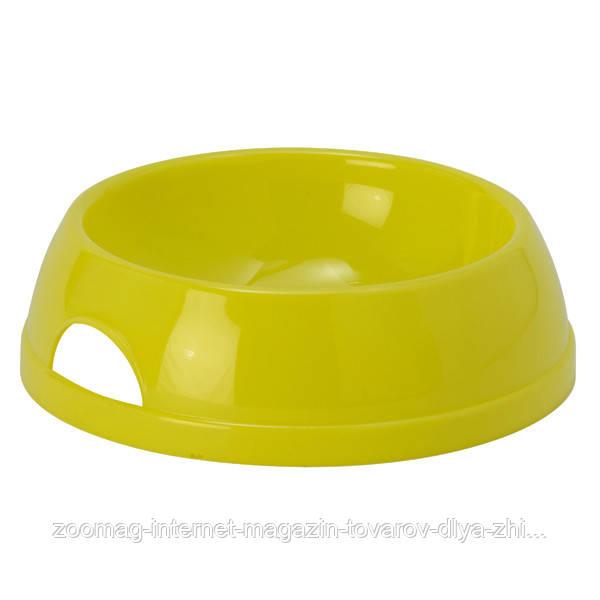 Moderna Eco миска пластиковая для кошек (200 мл, d-11.5 см) лимонный