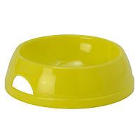Moderna Eco миска пластиковая для кошек (200 мл, d-11.5 см) лимонный, фото 1