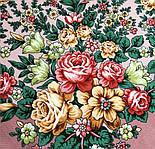 Цветочная нимфа 1831-16, 89x89, павлопосадский платок шерстяной с оверлоком, фото 7