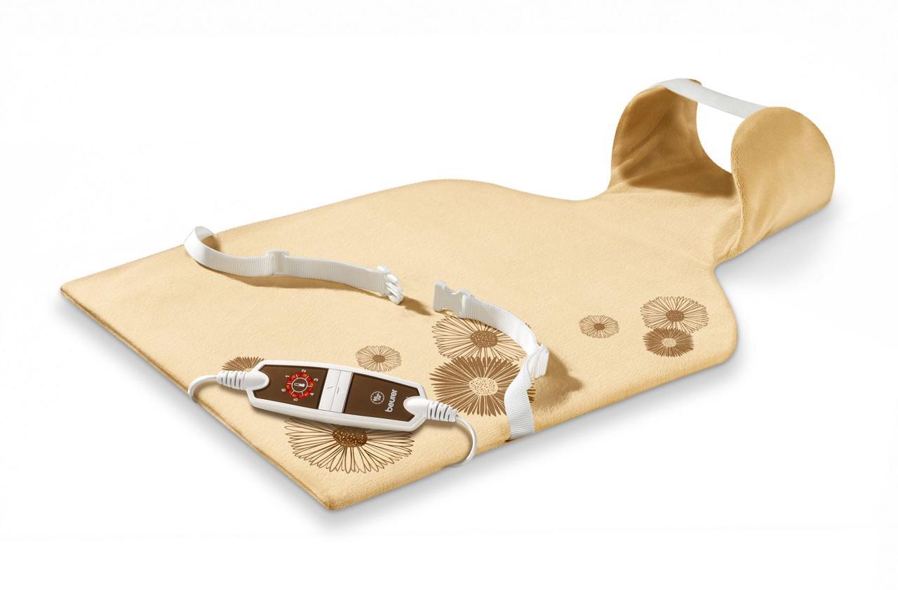 Электрическая грелка удобной формы для спины и шеи из мягкого воздухопроницаемого волокна Вeurer HK 58