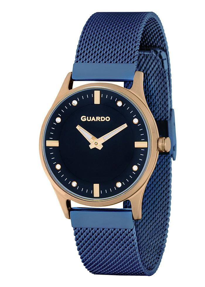 Часы Guardo PREMIUM P11712(m) RgBl браслет V кварц.